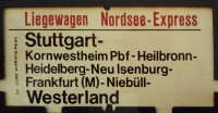 Zuglaufschild Nordsee Express-2